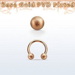 Piercing Fer À Cheval plaqué or rose 1.2 mm x 3 mm