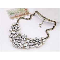 collier strass bronze