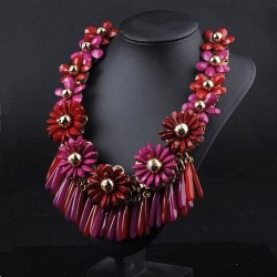 collier fantaisie rouge