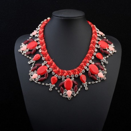 Collier mode rouge