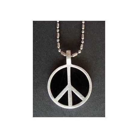 pendentif +chaine fantaisie peace and love