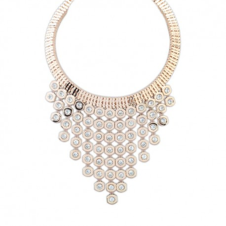 collier strass doré