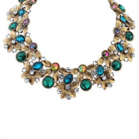 Collier mode multicolore