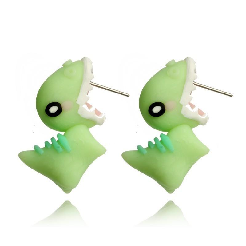 boucle d'oreille dino