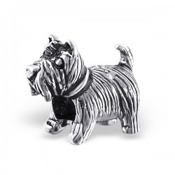 charms chien argent