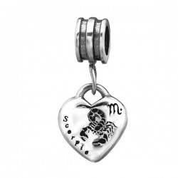 charms zodiaque scorpion en argent