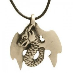 collier dragon en étain