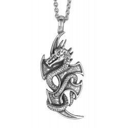collier dragon en étain modèle Bishop