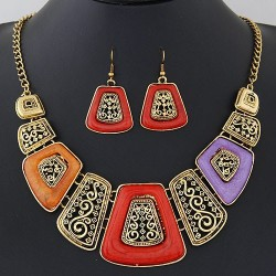 collier multicolore fantaisie Anthony