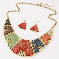 collier multicolore fantaisie Adil
