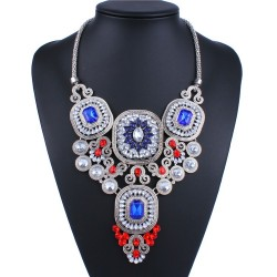 collier multicolore strass fantaisie Ali