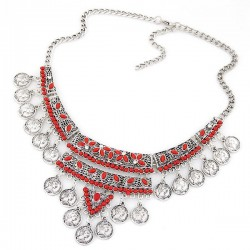 Collier rouge ethnique