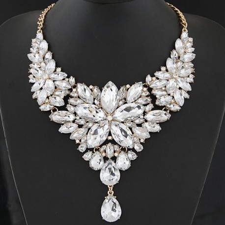 collier strass fantaisie