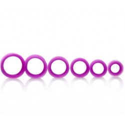 Piercing tunnel silicone flexible violet
