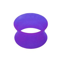 Piercing tunnel silicone flexible violet modèle Aristede