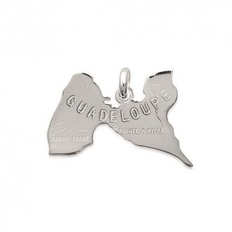pendentif guadeloupe argent