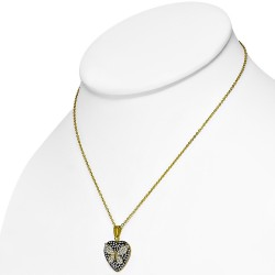 Collier cristal love papillon modèle Bezziate