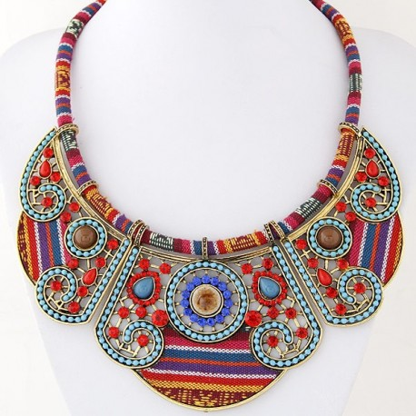 Collier multicolore fantaisie