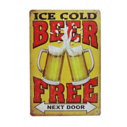 Plaque métal Ice Beer 20 x 30 cm