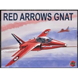 Plaque métal vintage Avion RED ARROWS GNAT 30 cm x 20 cm