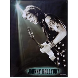 Plaque métal Johnny Hallyday the Wolf en 20 cm x 30 cm