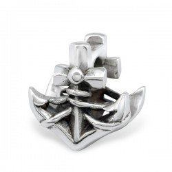 charm ancre marine argent