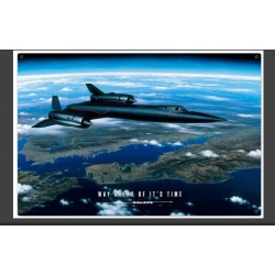 Plaque métal vintage Avion Way Ahead 30 cm x 20 cm