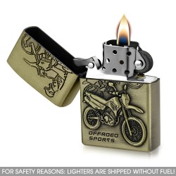 Carte Briquet à essence moto modèle Angelis
