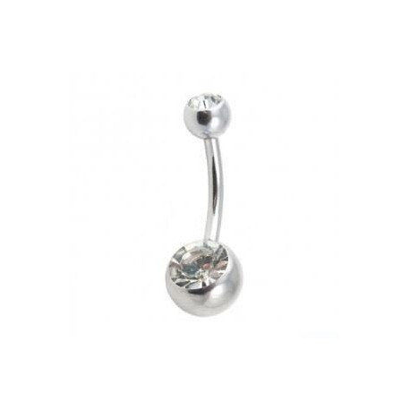 piercing nombril blanc