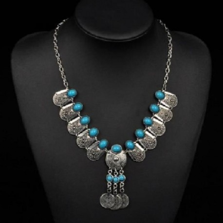 Collier bleu turquoise