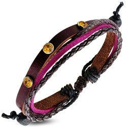 Bracelet multirangs cuir