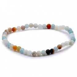 Bracelet amazonite multicolore en 4 mm