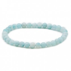 Bracelet amazonite de Chine perles en 6 mm