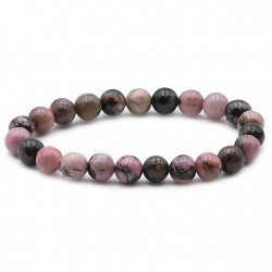 Bracelet rhodonite de Madagascar en 8 mm
