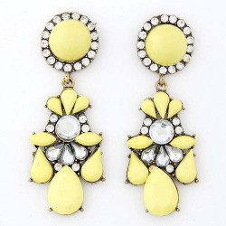 Boucles d'oreille jaune mode fashion
