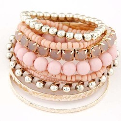 Bracelet multirangs rose anais