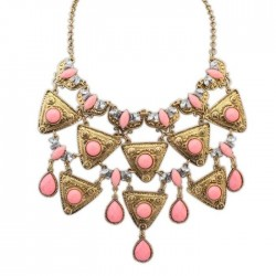 collier rose et bronze ariana