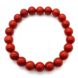 Bracelet jaspe rouge en 8 mm