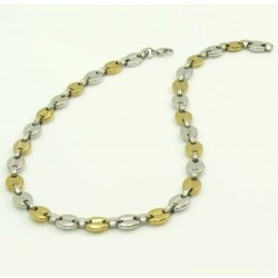 collier grain de café bicolore 6 mm annie