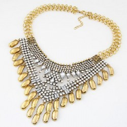 collier doré strass alyson