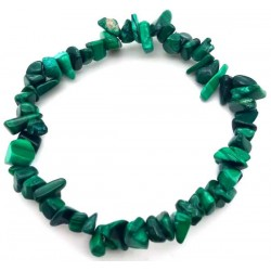 Bracelet malachite pierres baroque