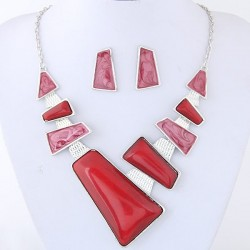 Collier rouge fantaisie anita