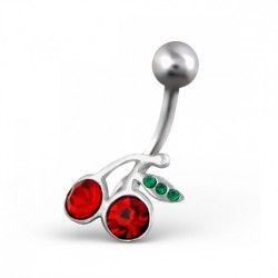 piercing nombril cerise
