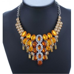 Collier strass ambre Beyza