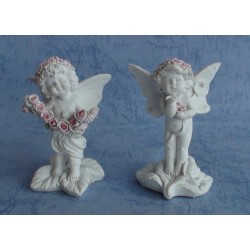 Figurines anges lot de deux chérubins