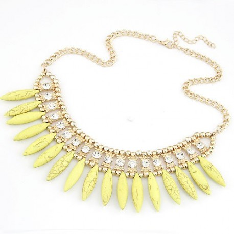 collier jaune abbey
