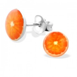 Boucles d'oreille orange
