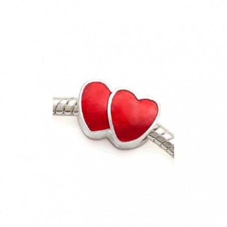 Charm Coeurs Rouges