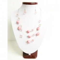 collier rose Argider
