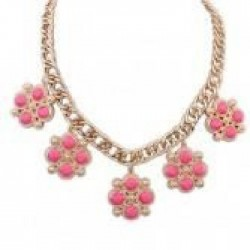 collier fantaisie rose fushia Arnies